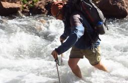 Atravessando o rio Tunuyán Argentina
