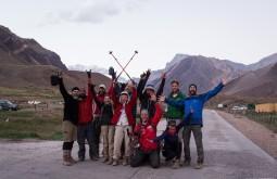 Galera a 2900m em Horcones após o término da expedição de fevereiro de 2015 com a equipe do Canal Off - Foto de Gabriel Tarso