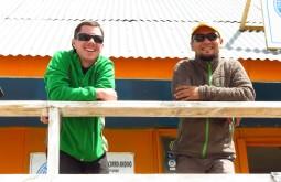 Manolo Svicero e Javier Callupan a 4500m - Foto de Paula Kapp