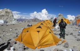 Nossas barracas no acampamento 3, Cólera - Foto de Fernando Schlosser