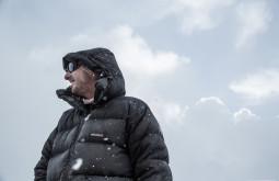 Nosso guia Eduardo Tonetti curtindo neve a 5050m em Plaza Canada