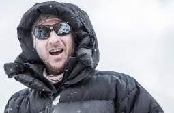 Nosso guia Eduardo Tonetti curtindo neve a 5050m em Plaza Canada 2