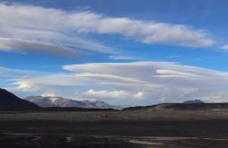 Nuvens lenticulares desde o refúgio Murray - Foto de Diego Coco Calabro