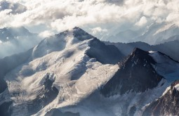 O Cerro Cuerno 5350m visto do cume do Aconcagua - Foto de Gabriel Tarso