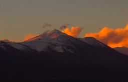 O cume norte do Peña Banca com 6108m visto desde 4500m no Claudio Lucero - Foto de Paula Kapp