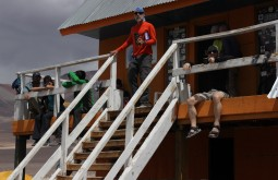Parte da nossa equipe aclimatando a 4500m - Foto de Diego Coco Calabro