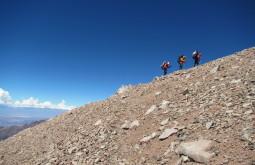 Pedro Hauck, Edson Monreal e Mauro Gelain a 5450m - Foto de Maximo Kausch