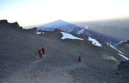Sombra do Aconcágua em janeiro de 2015 - Foto de Bruno Novarini