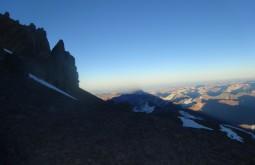 Sombra do Aconcágua vista desde 6400m