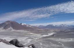 Vista do refugio Atacama ao norte