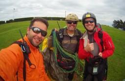 Após pouso de parapente em Curitiba