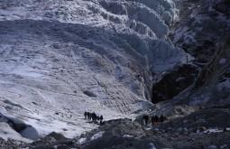 Chegando ao glaciar baixo