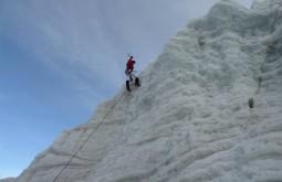 Escalando gelo na Bolívia