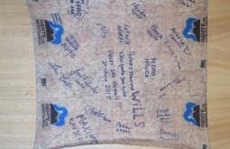 Lembrança que deixamos no refúgio da 2a turma do curso de gelo de 2015