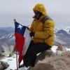 Marcio Pelloso no cume do Ojos del Salado com 6898m - Foto de Marcio Pelloso