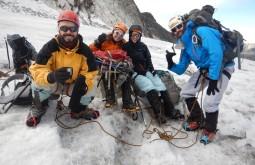 Parada de descanso no glaciar