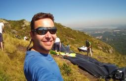Preparando para saltar na Serra do Mar