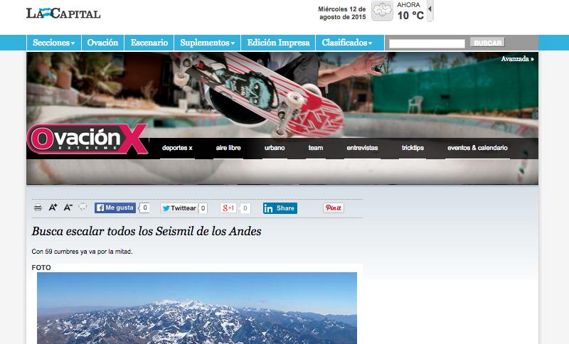 Busca escalar todos los Seismil de los Andes La Capital de Rosario _ Noticias, actualidad y toda la información de Rosario y la región (20150812)