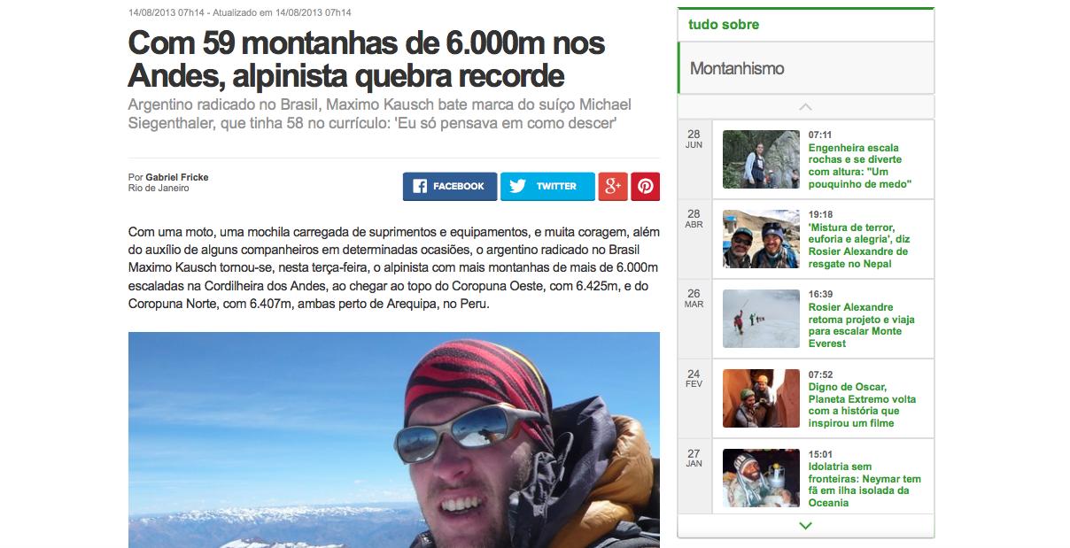 Com 59 montanhas de 6.000m nos Andes, alpinista quebra recorde _ globoesporte.com (20150812)