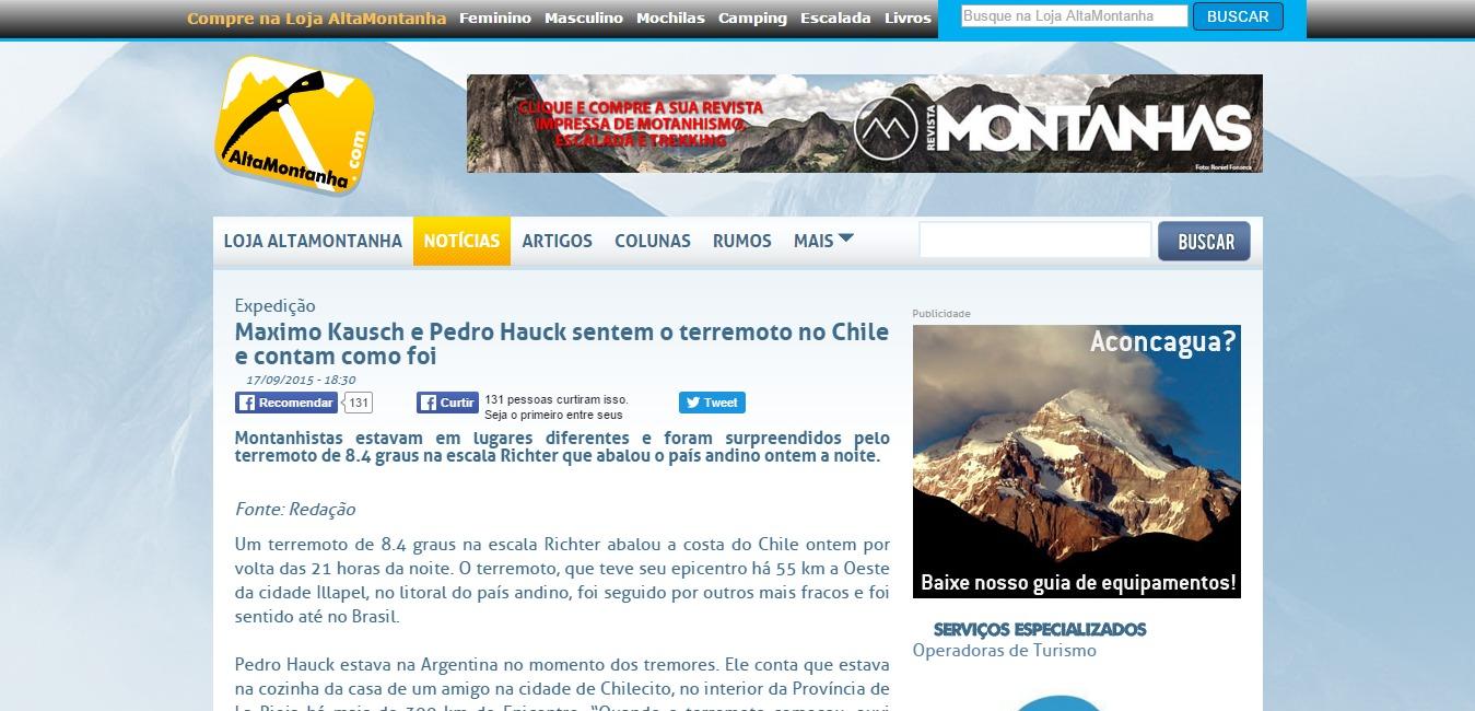 Maximo Kausch e Pedro Hauck sentem o terremoto no Chile e contam como foi