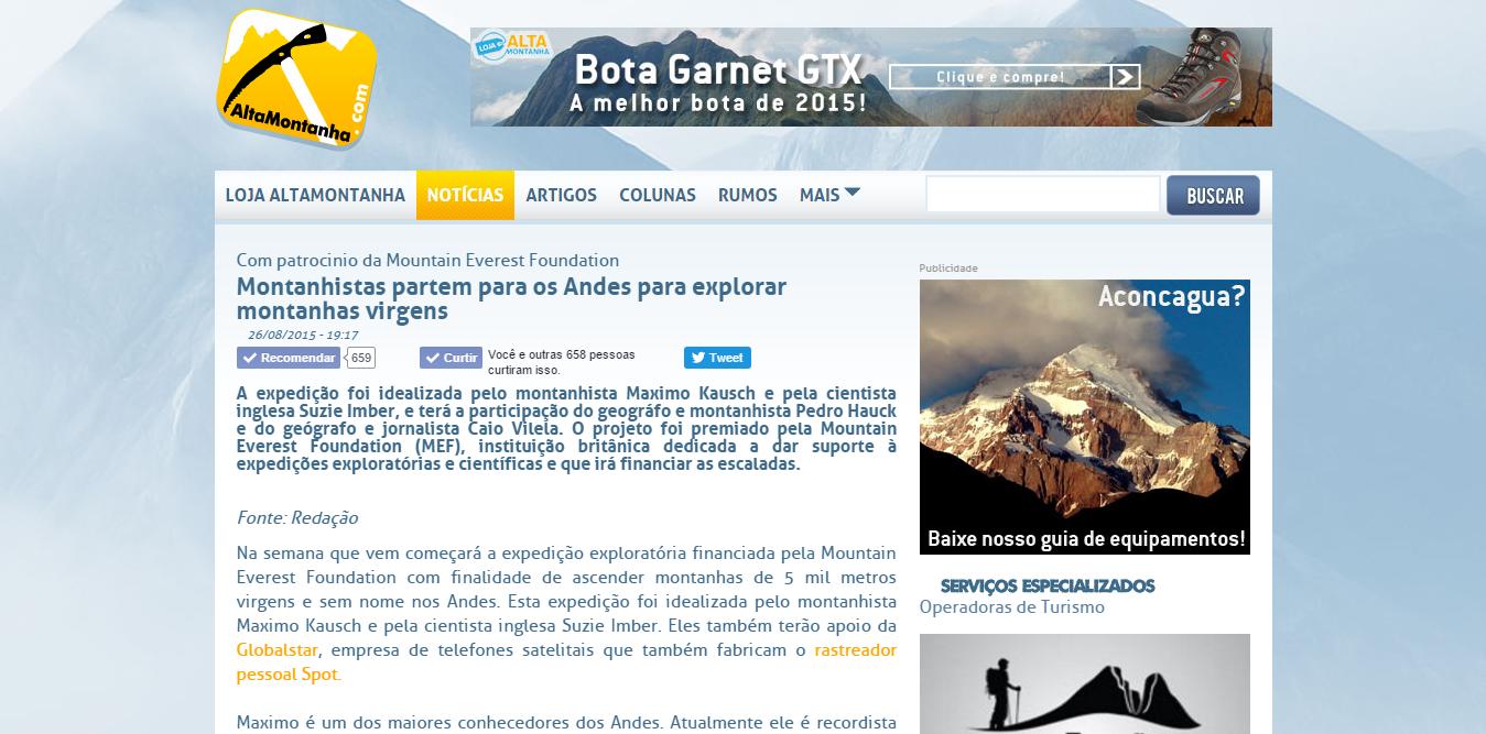 Montanhistas partem para os Andes para explorar montanhas virgens