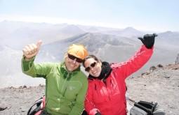 no cume do Cerro Toco com clientes
