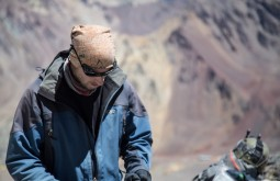 ACONCAGUA - Eduardo Tonetti a 5300m - Foto Gabriel Tarso