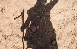 ACONCAGUA - Sombra de gabriel na playa ancha 2 - Foto Gabriel Tarso