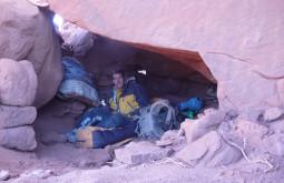 Maximo bivaqueando na Puna do Atacama