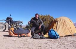 Maximo na sua expedição solitária de 2 meses
