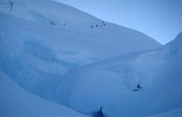 Treinando no glaciar