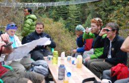 Almoço durante o trekking