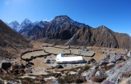 Pousada a 440m na base do Ama Dablam