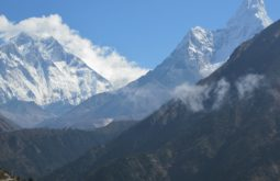 Primeira vista do Ama Dablam