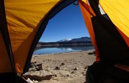 Vista do acampamento em Laguna verde