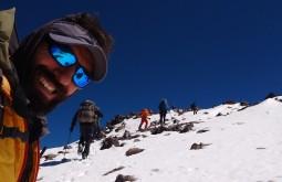 Caminho ao cume do Vicuñas