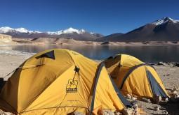 Nosso acampamento em Laguna Verde