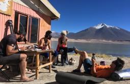 Relaxando em Laguna Verde