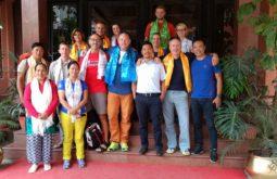 Time de 2017 no hotel em Kathmandu