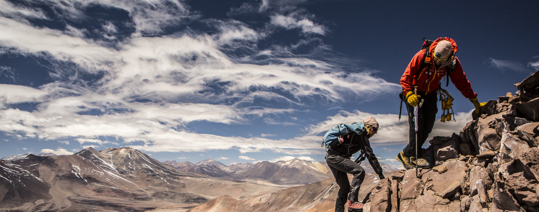 Escalando o Sierra de Aliste pela primeira vez - Foto de Caio Vilela