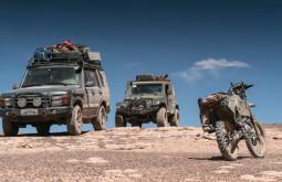 Nossos veículos em etapa exploratória em Novembro de 2016 - Foto de Gabriel Tarso