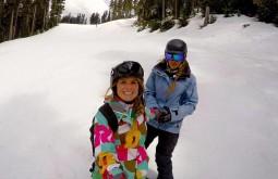 Fazendo snowboard