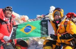 No cume do Everest pela primeira vez