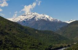 O vulcão Tinguiririca que pode ser visto do trekking