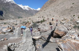 Ponte pensil próximo a Jhula
