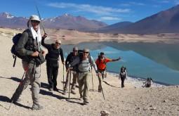 Dia de ascensão do Mulas Muertas, Laguna Verde ao fundo - Foto de Javier Callupan