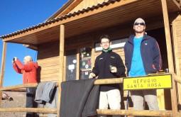 Eduardo, Alexandre e Gustavo no Refúgio Laguna Santa Rosa - Foto de Alexandre Daniotti
