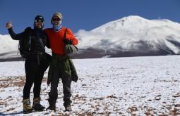 Emiliano Araújo e Ricardo Cordeiro aclimatando a 4500m - Foto de Emiliano Araujo