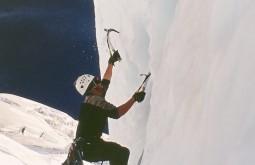 Escalando gelo na Patagonia