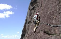 Escalando rocha no Brasil